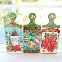 크리스마스 장식 포인세티아 냄비받침(3type)_(2088426)