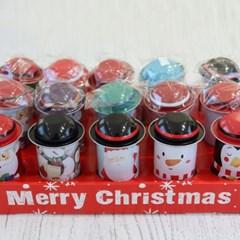 크리스마스 캐릭터 모자 틴케이스 15개 세트_(2088424)