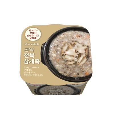 슬로우래빗 곤약 전복삼계죽 (3개)