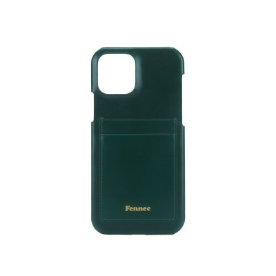 FENNEC LEATHER IPHONE 12/12 PRO CARD CASE - MOSS GREEN