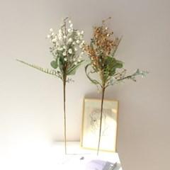 고급스러운 겨울 풍성 열매조화가지 장식(2color)
