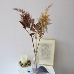 겨울 크리스마스 골드 아스틸베 싱글 조화꽃장식(2color)