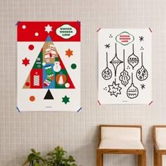 윈터 원더랜드3 M 유니크 인테리어 디자인 포스터 크리스마스