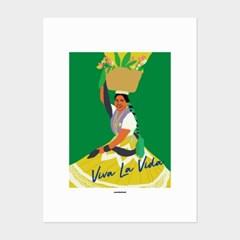[카멜앤오아시스] Viva La Vida 멕시코 여인 포스터