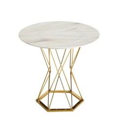 웨스트 글래스 원형골드 테이블 2