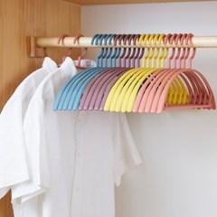 남녀공용 슬림 마카롱 옷걸이 10개 6색상