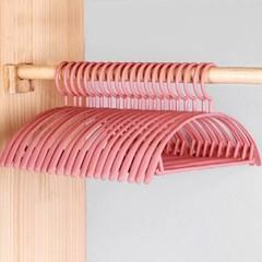 남녀공용 슬림 마카롱 옷걸이 10개 분홍