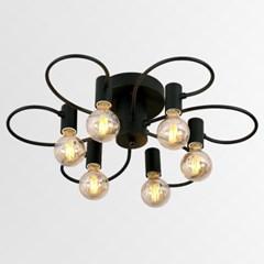 LED 디엘 6등 직부등(블랙,화이트)