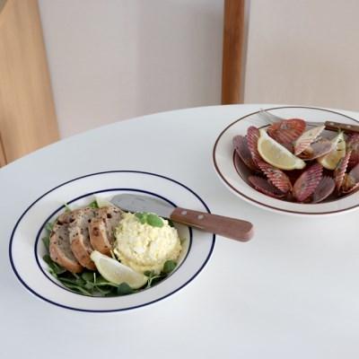 시라쿠스 라인 파스타 볼 샐러드 접시