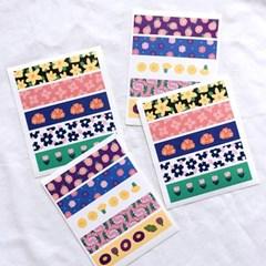 꽃 패턴 페이크 마테