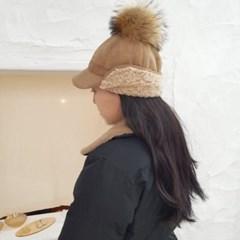 방울캡 스웨이드 무스탕 양털 뽀글이 방한 볼캡 모자