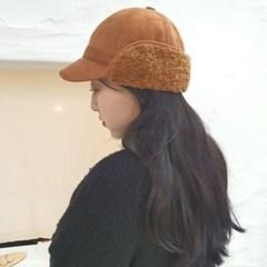 뽀글이 양털 무스탕 스웨이드 귀달이 방한 볼캡 모자