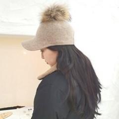 데일리 연예인 기본 방울캡 챙넓은 니트 울 볼캡 모자