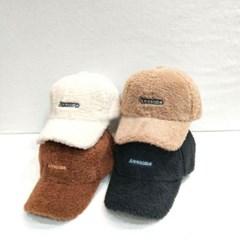 챙넓은 패션 기본 뽀글이 양털 무스탕 볼캡 야구모자