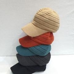 챙넓은 데일리 패션 기본 연예인 심플 니트 볼캡 모자
