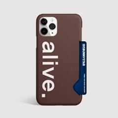 alive(브라운) 카드수납 케이스-030