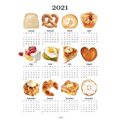 2021 bread canvas calendar (2size)