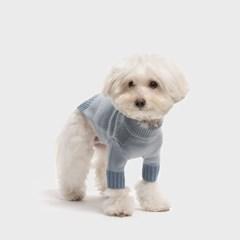 톤온톤 램스울 스웨터 블루