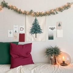 쭈키즈_크리스마스 트리 패브릭 포스터 + 스티커
