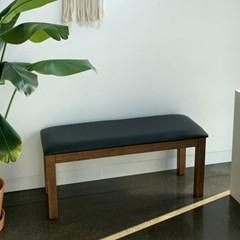 [카르페디]KA 고무나무 원목 쿠션 벤치 의자(2인용)
