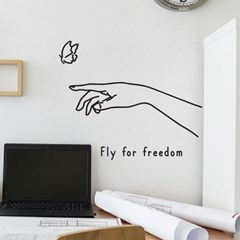 fly for freedom 감성 일러스트 인테리어 스티커