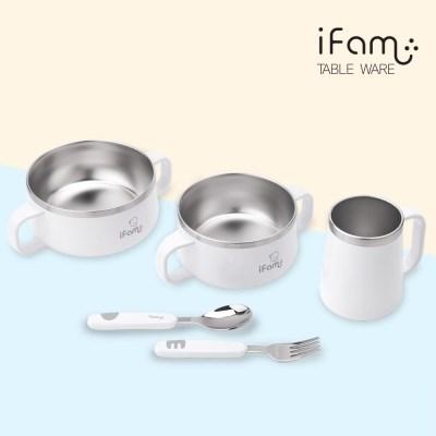아이팜 이지두잉 유아 밥그릇+국그릇+컵+스푼포크 4종 세트