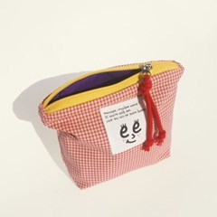 Check pouch(S)_Pink