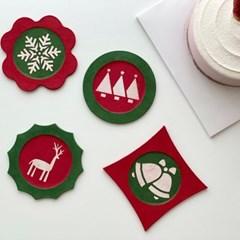 [한지공예] 크리스마스 심플 티 코스터 DIY 키트