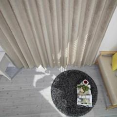 [나산] 세미벨벳 사계절 방한커튼 600x240cm 브라운