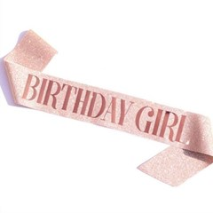 Glitter Birthday Shoulder Ribbon