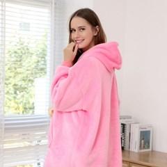 더컴피 에스키모 후드 담요 잠옷