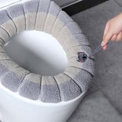 변기커버 극세사 따뜻한 변기카바 엉따 욕실변기커버 4개 1set