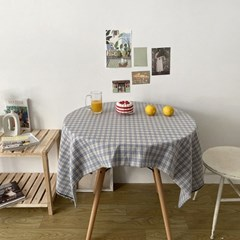 빈티지 블루 체크 테이블 식탁보 2size