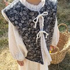 꽁) 포레스트리버시블 아동 조끼