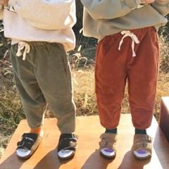 꽁) 스판골덴 아동 라운드절개팬츠
