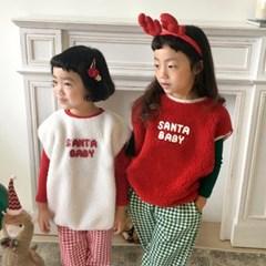 꽁)산타 베이비 아동 조끼