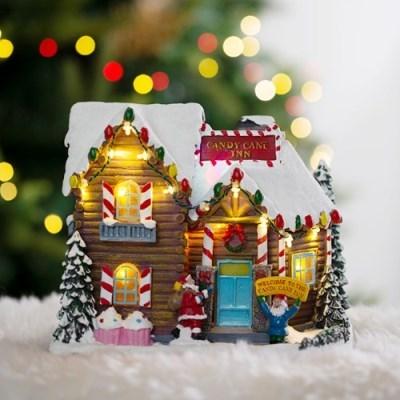 [데코봉봉]크리스마스 LED 오르골(쿠키하우스)