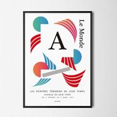콤포지션3 M 유니크 인테리어 디자인 포스터 구성