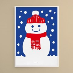 눈펑펑 눈사람 M 유니크 인테리어 디자인 포스터 겨울 크리스마스
