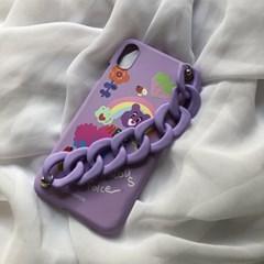 [스트랩세트]Chocolate Heart-Purple+Matt chain-purple