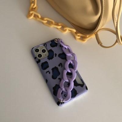 [스트랩세트]leopard-Purple+Matt chain-purple