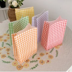 Gingham Check Paper Bag 깅엄체크 종이백(5가지 색/5장 세트)