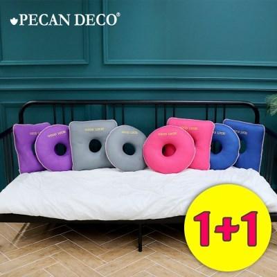 피칸데코 기능성 도넛방석 1+1 택2 원형 사각형 국내제_(321972)