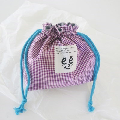 Check string pouch_Purple