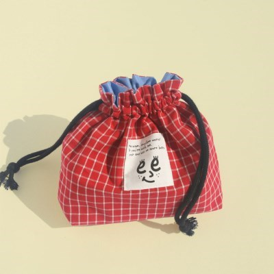 Check string pouch_Red