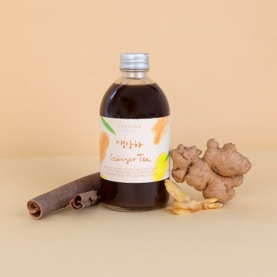 무배 담꽃 국내산 생강사용 진한 착즙 생강차 430g