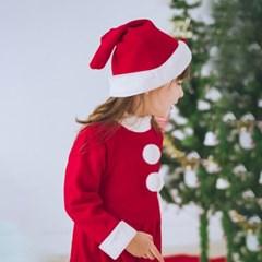 어린이 6-9세 크리스마스 산타복 원피스 세트