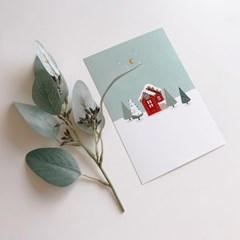 쭈키즈_크리스마스 일러스트 엽서+스티커