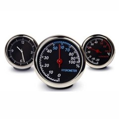 CAR interior mini Analog 시계 온도계 습도계 3종