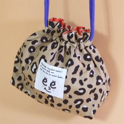 Pattern string pouch_Leopard